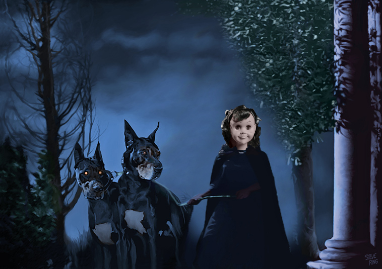 """Unpublished still from my screen test for Mario Bava's """"Black Sunday"""" (1960)."""