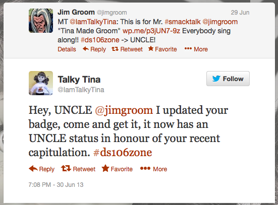 "Now so-designated UNCLE @JimGroom says ""UNCLE"""