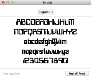 """Install Font: TwoBit"""